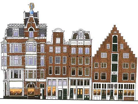 Cercare casa ad amsterdam amsterdam for free - De gevels van de huizen ...