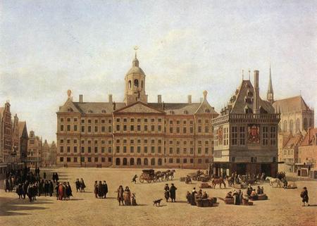 Piazza Dam agli inizi del 1800
