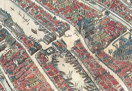 Piazza Dam nel 1544