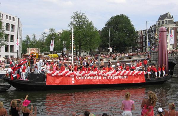 La barca del Comune di Amsterdam